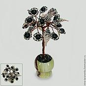 Для дома и интерьера handmade. Livemaster - original item Miniature tree of happiness from shungite in a vase of onyx. Handmade.