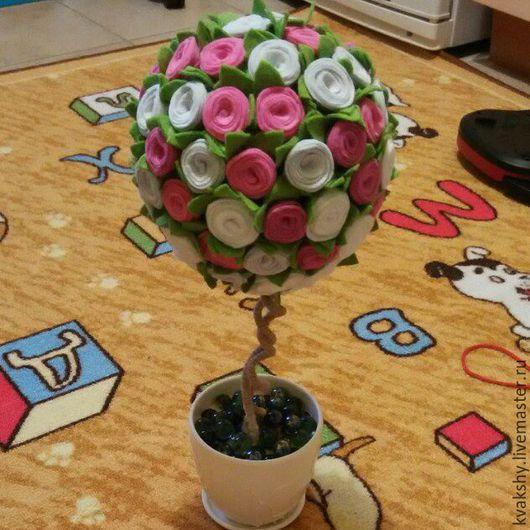 Прихожая ручной работы. Ярмарка Мастеров - ручная работа. Купить Топиарий из фетра. Handmade. Комбинированный, топиарий дерево счастья, подарок