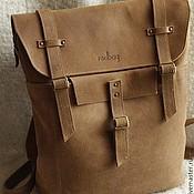 Сумки и аксессуары handmade. Livemaster - original item Backpack vintage nubuck Redbag.. Handmade.
