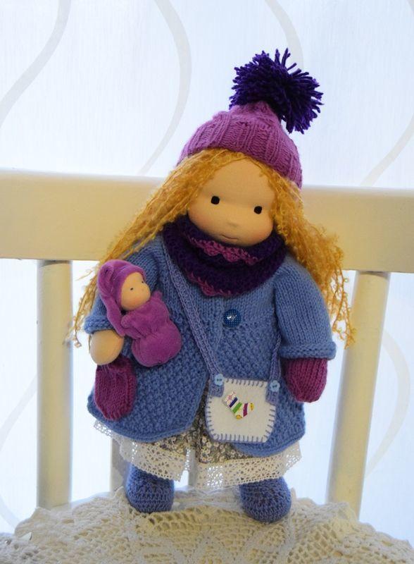 Вальдорфская кукла Мира, 36 см, Вальдорфские куклы и звери, Санкт-Петербург,  Фото №1