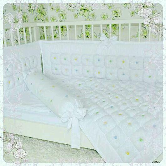 Для новорожденных, ручной работы. Ярмарка Мастеров - ручная работа. Купить Комплект в кроватку. Handmade. Бортики в кроватку, одеяло детское