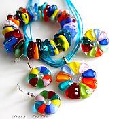 Украшения handmade. Livemaster - original item set of glass fusing .. . Handmade.