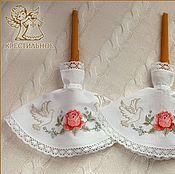 Свадебный салон ручной работы. Ярмарка Мастеров - ручная работа Салфетки для свечей Розы. Handmade.