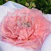 Украшения ручной работы. Ярмарка Мастеров - ручная работа Пион  розовый. Handmade.
