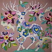 """Картины и панно ручной работы. Ярмарка Мастеров - ручная работа """"Волшебный и  благородный""""  вышивка. Handmade."""