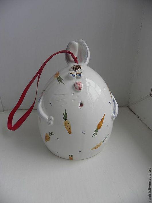 Подарки на Пасху ручной работы. Ярмарка Мастеров - ручная работа. Купить Пасхальный кролик-колокольчик. Handmade. Пасха, заяц, Пигмент