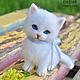Игрушки животные, ручной работы. Ярмарка Мастеров - ручная работа. Купить Белый котеночек. Handmade. Белый, Валяние, фильцевание, войлок