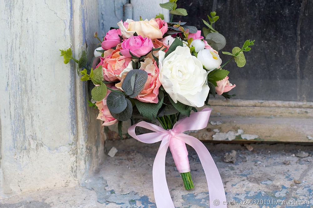 Букет невесты, свадебный букет невесты, букет из фоамирана, пионы, Свадебные букеты, Сочи,  Фото №1