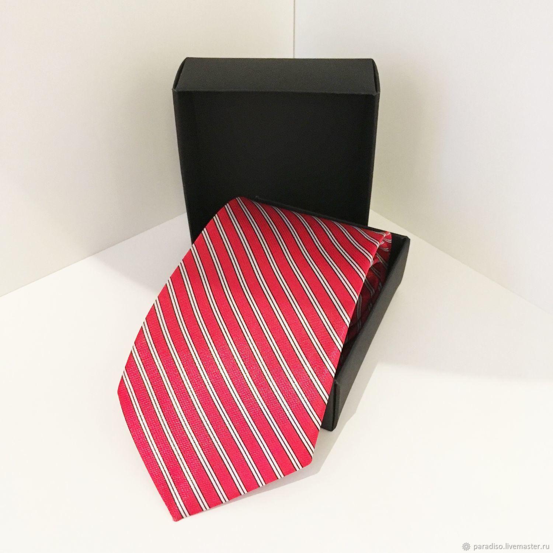 AMERICAN BOY красный мужской галстук из шелкового атласа, Галстуки, Москва,  Фото №1