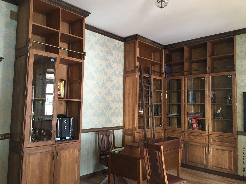 библиотека на заказ, мебель для библиотеки, шкафы библиотечные