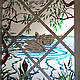 """Элементы интерьера ручной работы. Ярмарка Мастеров - ручная работа. Купить Витраж """"Лебеди"""". Handmade. Витраж, ручная роспись"""