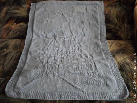 Пледы и одеяла ручной работы. Ярмарка Мастеров - ручная работа. Купить Плед ''Заколдованный замок''. Handmade. Васильковый, замок