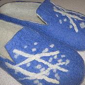 """Обувь ручной работы. Ярмарка Мастеров - ручная работа Тапки - шлепки мужские """"Ждем зиму"""". Handmade."""