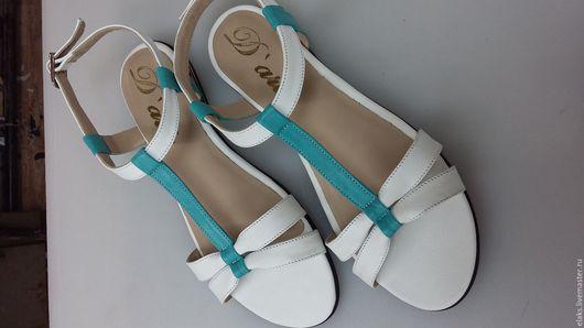 Обувь ручной работы. Ярмарка Мастеров - ручная работа. Купить Босоножек женский. Handmade. Комбинированный, обувь на заказ, сандалии из кожи