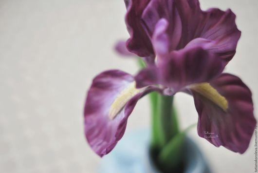 """Броши ручной работы. Ярмарка Мастеров - ручная работа. Купить Брошь """"Ирис"""".. Handmade. Фиолетовый, украшения ручной работы, подарок"""