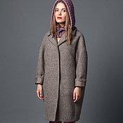 Одежда handmade. Livemaster - original item Coat cashmere and Alpaca oversized from AMODAY. Handmade.