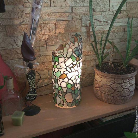 Освещение ручной работы. Ярмарка Мастеров - ручная работа. Купить Витражный светильник-колонна. Handmade. Комбинированный, интерьер, бохо декор