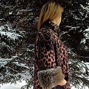 Одежда ручной работы. Ярмарка Мастеров - ручная работа Куртка зимняя, универсальная, леопард. Handmade.