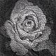 """Картины цветов ручной работы. Заказать картина """"Роза"""" в стиле стринг арт. Smolot. Ярмарка Мастеров. Картина, гвозди, stringart"""
