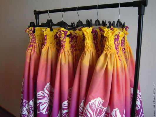Танцевальные костюмы ручной работы. Ярмарка Мастеров - ручная работа. Купить Гавайская юбка Пау. Handmade. Брусничный, хула, сливовый