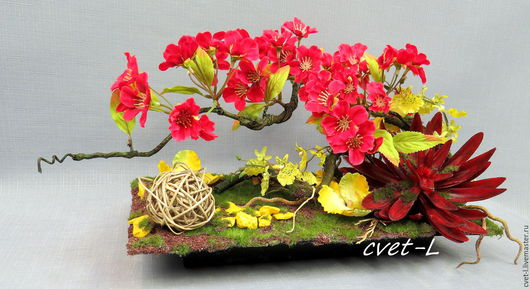 Интерьерные композиции ручной работы. Ярмарка Мастеров - ручная работа. Купить Яблоня в цвету. Handmade. Комбинированный, композиция
