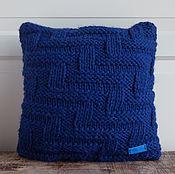 Для дома и интерьера ручной работы. Ярмарка Мастеров - ручная работа Подушка вязаная текстильная Ночные тропы. Handmade.