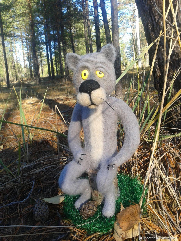 """Ну ты заходи, если что"""" волк валяный мультик, Войлочная игрушка, Котлас,  Фото №1"""