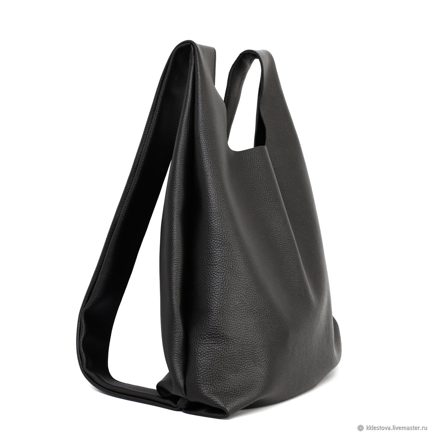 Soft large backpack bag black leather, Backpacks, Moscow,  Фото №1