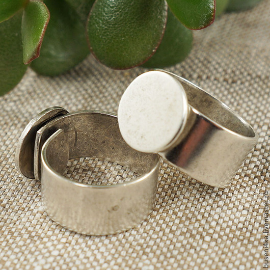 Для украшений ручной работы. Ярмарка Мастеров - ручная работа. Купить Основа для кольца ND с платформой 13мм, античное серебро (1шт). Handmade.