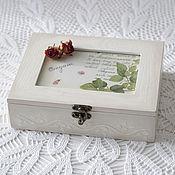 """Для дома и интерьера ручной работы. Ярмарка Мастеров - ручная работа шкатулка чайная """"орегано"""". Handmade."""