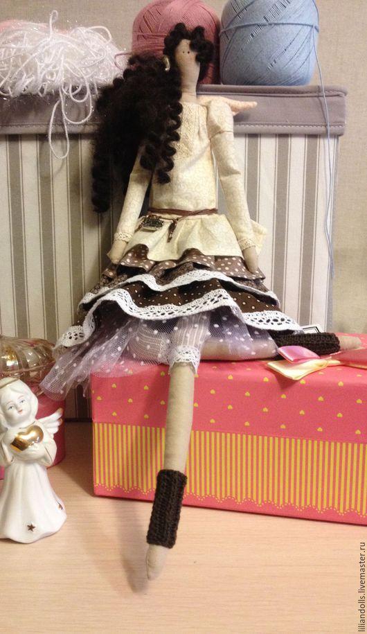 Куклы Тильды ручной работы. Ярмарка Мастеров - ручная работа. Купить Василиса. Handmade. Бежевый, фатин, хлопок, декоративные украшения