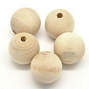 Материалы для творчества ручной работы. Ярмарка Мастеров - ручная работа Бусины диам. 25 мм деревянные (1 шт). Handmade.