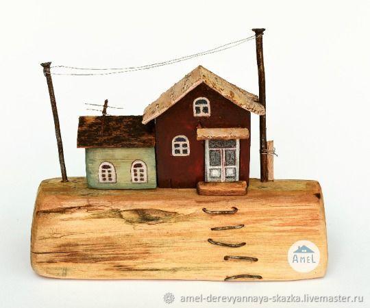 Деревянные домики. Декор для стола, окна или книжной полки, Домики, Гюмри,  Фото №1
