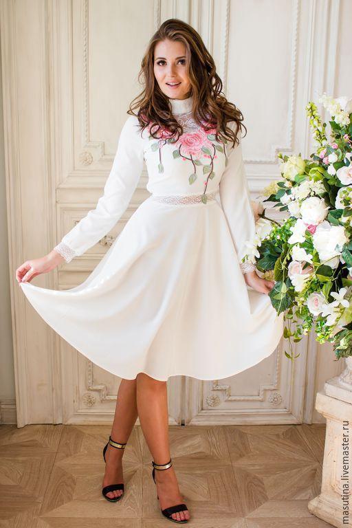 """Платья ручной работы. Ярмарка Мастеров - ручная работа. Купить Платье """"Souffle"""". Handmade. Белый, кружево, платье на свадьбу"""