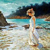 Картины и панно handmade. Livemaster - original item The solar sea.. Handmade.