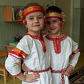 Русский стиль handmade. Livemaster - original item Traditional Slavic costume for girls (baby). Handmade.