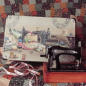 Материалы для творчества handmade. Livemaster - original item Suitcase for a seamstress. Handmade.