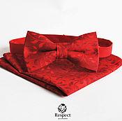 Аксессуары ручной работы. Ярмарка Мастеров - ручная работа Красная бабочка галстук Red Hot Chili Pepper + нагрудный платок. Handmade.