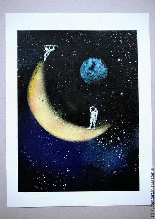 Картина экспонировалась на 5 Всероссийском фестивале Фентези и Фантастики  Техника - Spray Paint Art + акрил