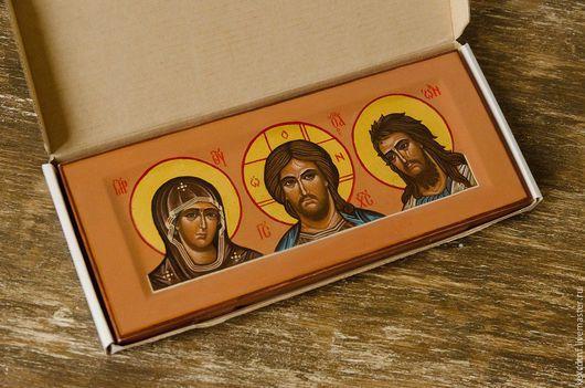 Персональные подарки ручной работы. Ярмарка Мастеров - ручная работа. Купить Деисус. Handmade. Иисус Христос, икона, дом, апостол