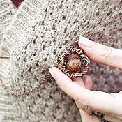 Украшения ручной работы. Ярмарка Мастеров - ручная работа Булавка для шарфа. Handmade.