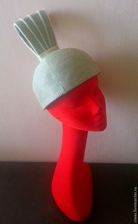 """Шляпы ручной работы. Ярмарка Мастеров - ручная работа. Купить Шляпка""""Соланж"""". Handmade. Бежевый, летняя шляпка, декоративная шляпка"""