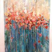 """Картины ручной работы. Ярмарка Мастеров - ручная работа """"Алые цветы в холодной воде """". Handmade."""