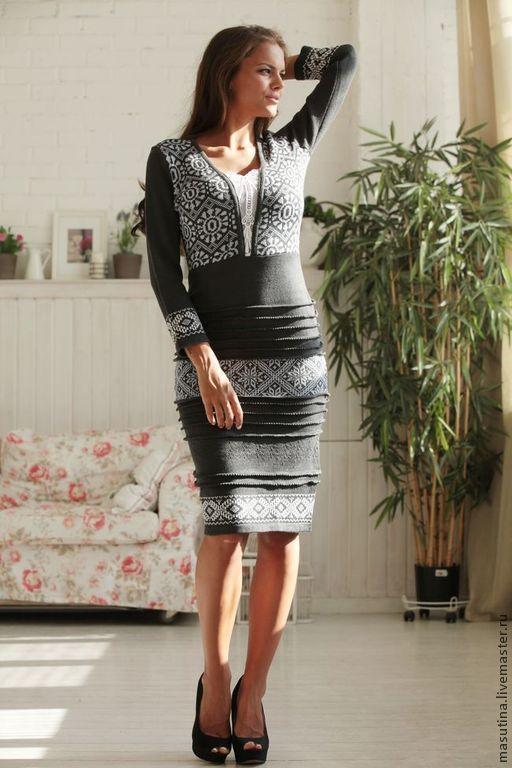 """Платья ручной работы. Ярмарка Мастеров - ручная работа. Купить Платье """"Miss"""". Handmade. Темно-серый, серое платье"""