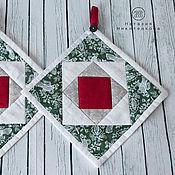 Для дома и интерьера ручной работы. Ярмарка Мастеров - ручная работа Прихватки новогодние. Handmade.