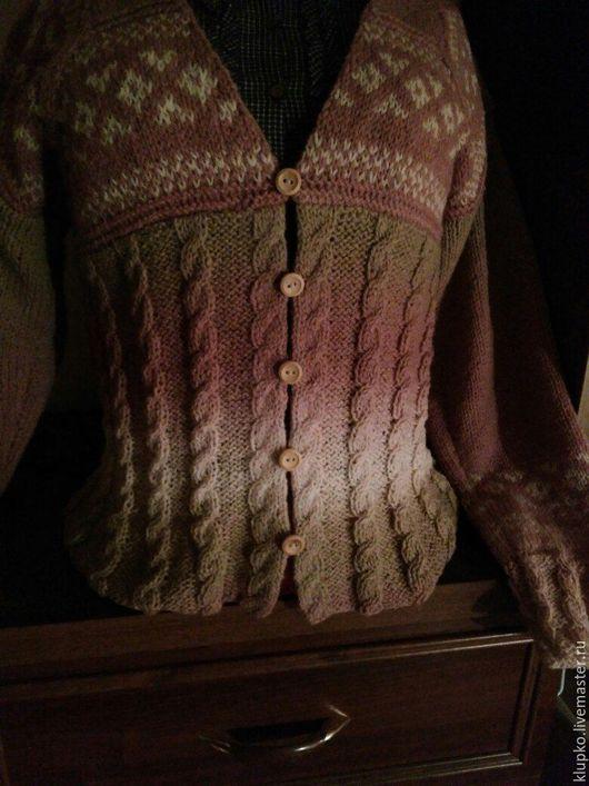 Кофты и свитера ручной работы. Ярмарка Мастеров - ручная работа. Купить кардиган вязаный. Handmade. Кремовый, вязаный кардиган, шерсть