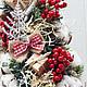 Новый год 2017 ручной работы. Елочка настольная. Cadeaux de Noёl. Интернет-магазин Ярмарка Мастеров. Красный, красный с белым
