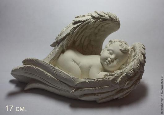 """Статуэтки ручной работы. Ярмарка Мастеров - ручная работа. Купить Гипсовая статуэтка """"Малыш в крыльях"""". Handmade. Белый, статуэтки"""
