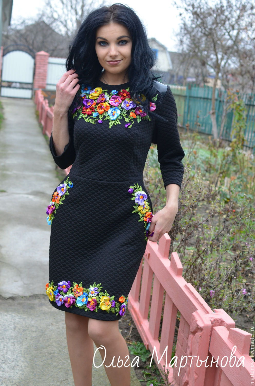 Платье вышитое лентами Дольче Вита – купить в интернет-магазине на ... 6f94f9b8e7165