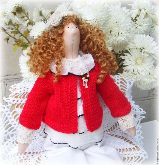 Одежда для кукол ручной работы. Ярмарка Мастеров - ручная работа. Купить Кофточка для Тильды. Handmade. Бежевый, хлопок, персиковый, кукла